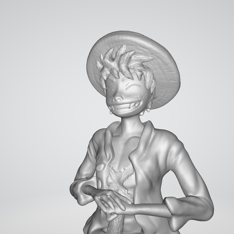 Model 5.PNG Download free STL file Monkey D Luffy • 3D printing object, BODY3D