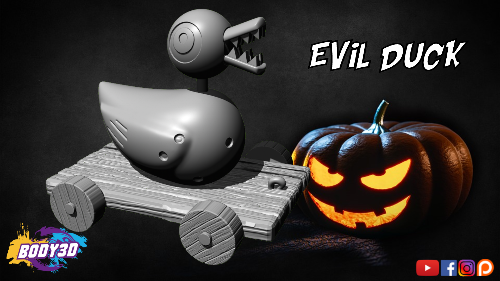 gfdgdsggsg.png Télécharger fichier STL Evil Duck - Nightmare Before Christmas • Design pour impression 3D, BODY3D