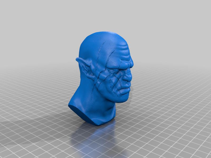 Azog_Bust.png Télécharger fichier STL gratuit Azog Bust - Le Hobbit • Design pour imprimante 3D, BODY3D