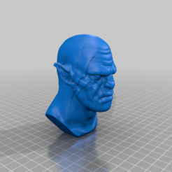 Azog_Bust.png Download free STL file Azog Bust - The Hobbit • 3D printing object, BODY3D