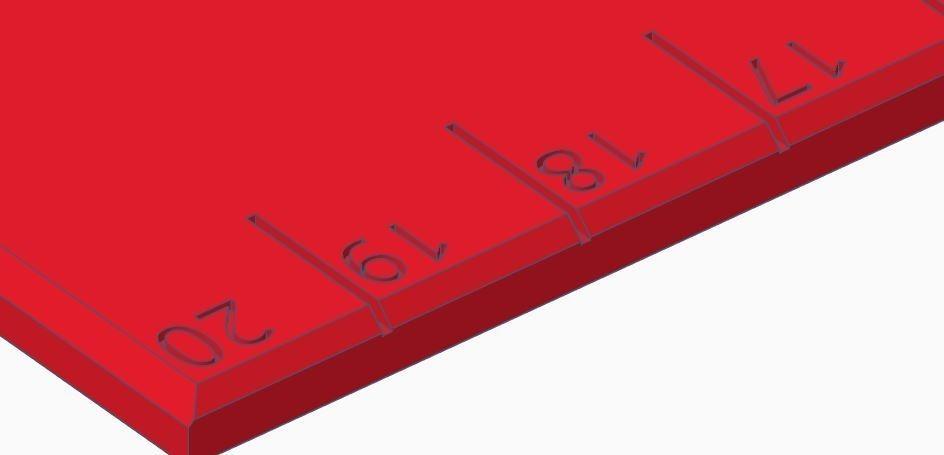 Règle 004.JPG Télécharger fichier STL gratuit Règle 20 cm • Design à imprimer en 3D, david75310