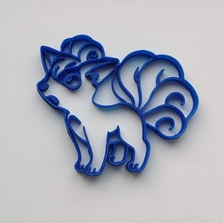 STL Cortador de galletas Vulpix Pokemon, Geek3Dprint