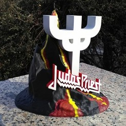 3D printer files Statue Judas Priest, Geek3Dprint