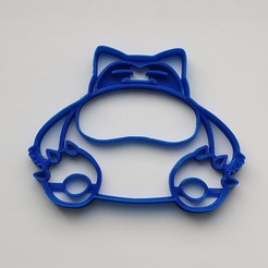 Download STL file Cookie cutter Snorlax Pokemon, Geek3Dprint
