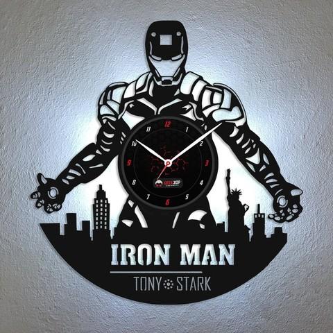 Download STL file Iron man - wall clock, Geek3Dprint