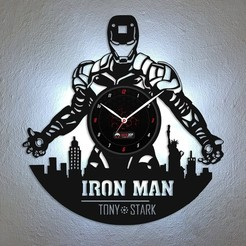 Télécharger fichier impression 3D Iron man - horloge murale, Geek3Dprint