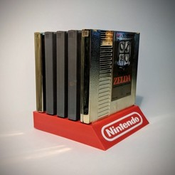 Free 3D printer files NES Cartridge Stand 5 Slot, mark579