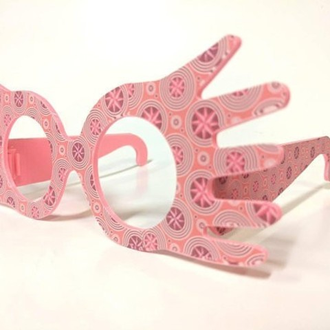 photo relating to Luna Lovegood Glasses Printable called Down load absolutely free 3D printer templates Luna Lovegood
