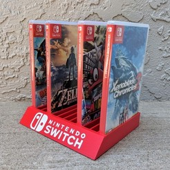 d46f52e35b2d9d717d01998770448015_display_large.jpg Download free STL file Nintendo Switch Game Case Holder • Design to 3D print, mark579