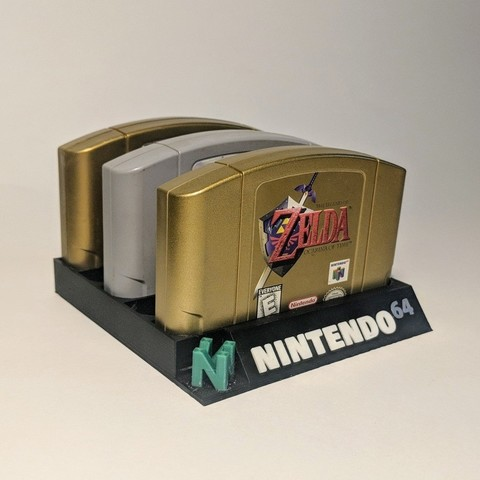 Free STL files Nintendo 64 5 Slot Cartridge Holder, mark579