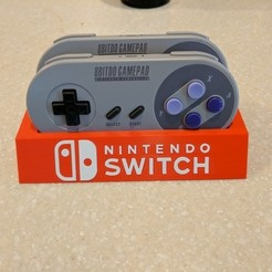 Download free 3D printing templates 8Bitdo SFC30/SNES30 Controller Holder (Switch Logo), mark579
