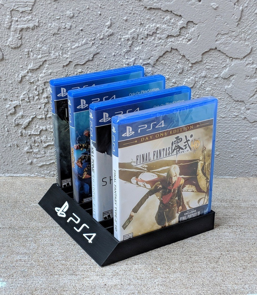 cecbc679adb0c0444cde29fa396feae3_display_large.jpg Download free STL file Playstation 4/3 Game Case Holder- Flat & Full Back Options • 3D printing template, mark579