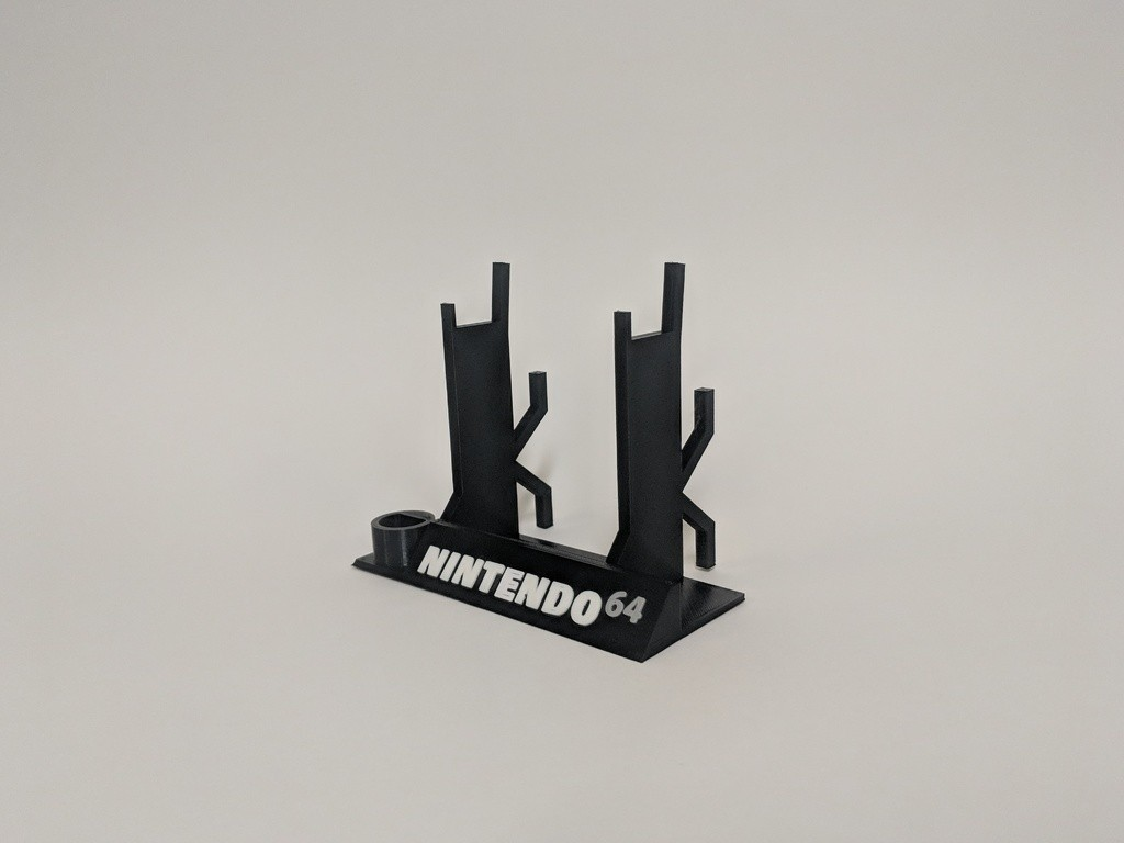 a35c27231677e9cdb95444c5e2a71917_display_large.jpg Download free STL file Nintendo 64 Controller Stand • Object to 3D print, mark579