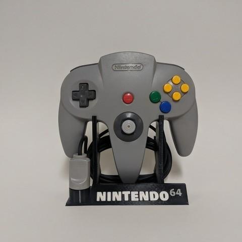 Download free 3D printer designs Nintendo 64 Controller Stand, mark579