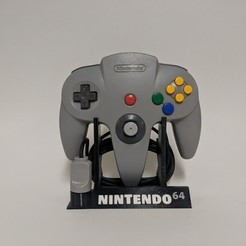 Download free 3D printer designs Nintendo 64 Controller Stand, mark579
