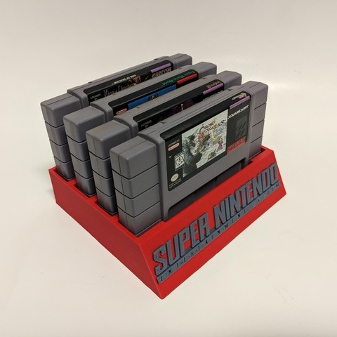 b4ec3120bb1309f2000c2af5f5f39450_display_large.jpg Download free STL file SNES Cartridge Holder • 3D print model, mark579