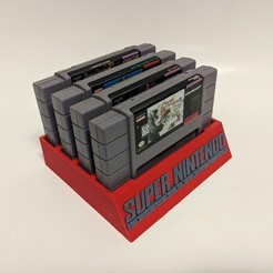 Download free 3D printing templates SNES Cartridge Holder, mark579