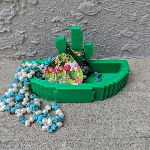 Free 3d printer model cactus planter or jewelry holder cults for Jewelry stand 3d model
