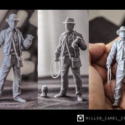 indi.jpg Download OBJ file indiana jones 70 mm • Model to 3D print, millercamel