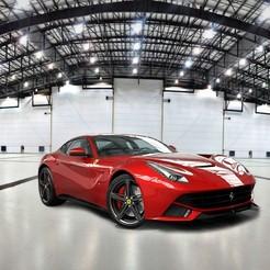 STL Modelo de coche 3D Ferrari, Mikyloo