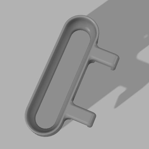 Towel Holder Top.png Télécharger fichier STL gratuit Porte-serviettes de cuisine à suspendre • Plan imprimable en 3D, 3D-Designs