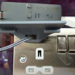 Télécharger plan imprimante 3D gatuit Prise d'alimentation USB mini étagère, 3D-Designs