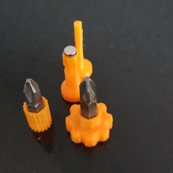 Download free 3D print files Magnetic mini screwdriver handles, 3D-Designs