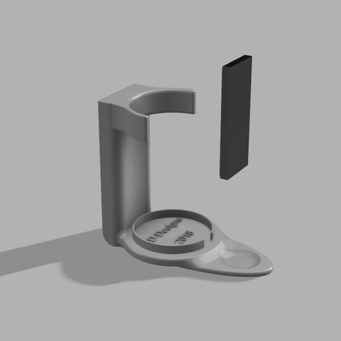 Soap Dispenser Mount Right.png Download free STL file Soap Dispenser Magnetic Wall Mount • 3D printer template, 3D-Designs