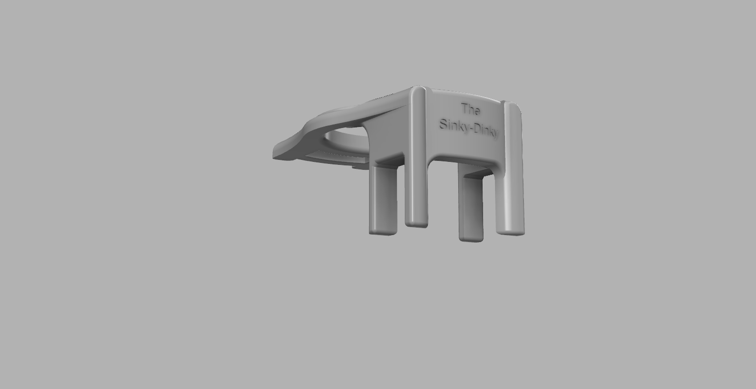 The Sinky Dinky 2.png Download free STL file The Sinky Dinky (sink colander drainer) • 3D print design, 3D-Designs