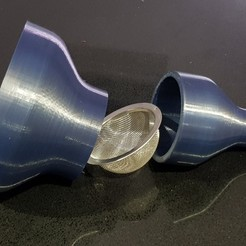 Free STL file Resin filter funnel using strainer, 3D-Designs