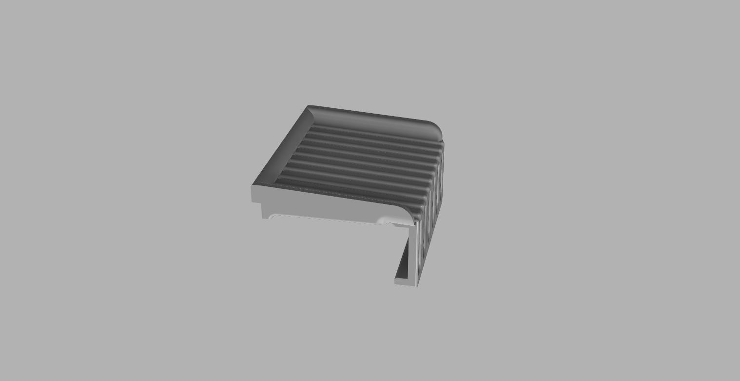 Drainer - Side.png Download free STL file Sink Scouring Sponge Holder • Design to 3D print, 3D-Designs