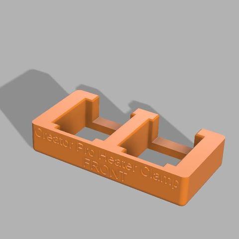 128e05883d351e43cb57fcaab3d861a9_display_large.JPG Télécharger fichier STL gratuit Creator Pro - Collier de serrage du bloc chauffant (pour le changement de buse) • Objet pour imprimante 3D, 3D-Designs