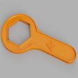 """Descargar archivos STL gratis Llave de 55mm para tubería de 2"""" para cisterna, 3D-Designs"""