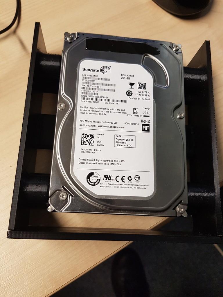 61e853735e69c628dca43fb38b7837b3_display_large.jpg Download free STL file Drive bay adapter - screwless! • 3D printing template, 3D-Designs
