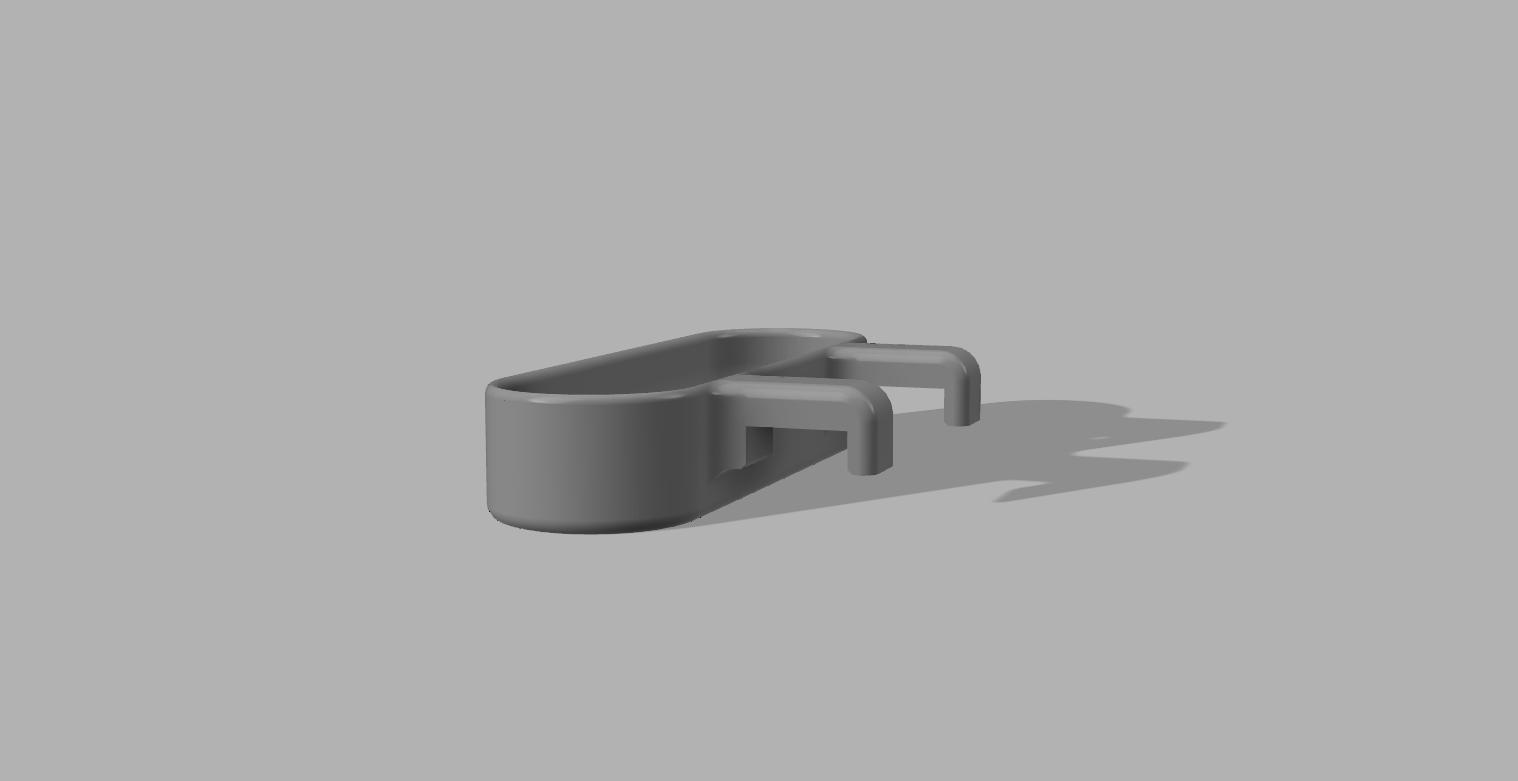 Towel Holder Rear.png Télécharger fichier STL gratuit Porte-serviettes de cuisine à suspendre • Plan imprimable en 3D, 3D-Designs