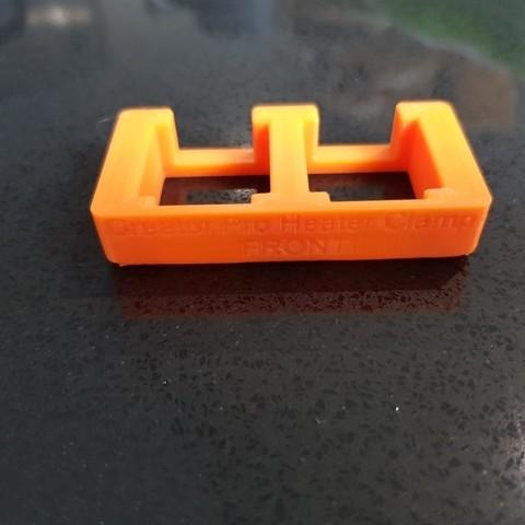 94b22b75484dab4b3d8f29312fcab083_display_large.jpg Télécharger fichier STL gratuit Creator Pro - Collier de serrage du bloc chauffant (pour le changement de buse) • Objet pour imprimante 3D, 3D-Designs