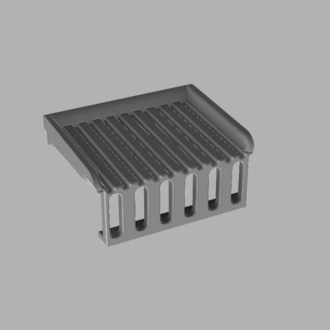 Drainer - Front.png Download free STL file Sink Scouring Sponge Holder • Design to 3D print, 3D-Designs