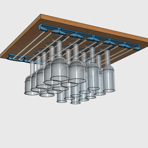 sv11.png Download free STL file Glass door • Template to 3D print, JMC3D