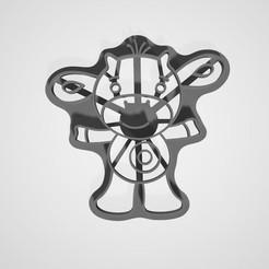 plan 3d Coupe-biscuits Tiny Love Cow (Vache Amoureuse), lasersun3d