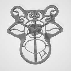 stl Cookie cutter deer, lasersun3d