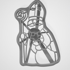 STL file Cookie cutter Saint Nicholas, lasersun3d