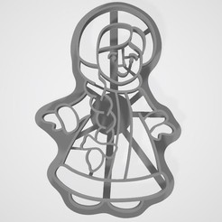 3d print files Snow Maiden cookie cutter, lasersun3d
