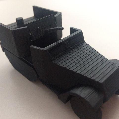 41356482_2136293706693479_1648125925256069120_n.jpg Download STL file M15A1 CGMC SPAA Half-track • 3D printer model, AntarcticFox