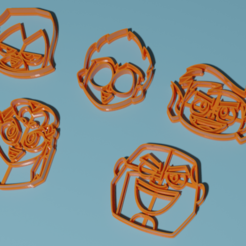 teen.png Download STL file Teen Titans Pasta Cutters • 3D print template, matiassidelnik