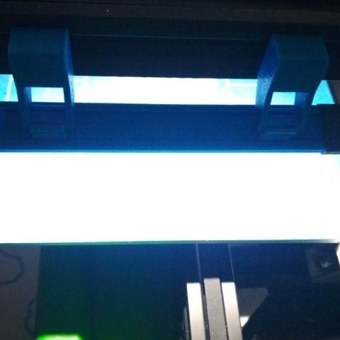 12.jpg Download free STL file Printer bed lighting - V-slot 2020 click-mount (Ender-2, CR-10)  • Template to 3D print, tomast