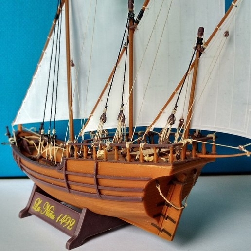 Image030.jpg Download free STL file Columbus caravel Nina (1492) • 3D printer template, tomast