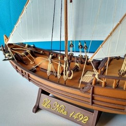 Download free 3D printing designs Columbus caravel Nina (1492), tomast