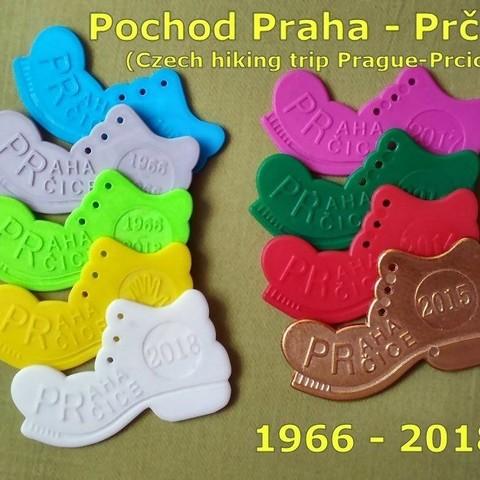 1.jpg Télécharger fichier STL gratuit Botička / Chaussure (récompense du voyage de randonnée tchèque Praha - Prčice) • Design imprimable en 3D, tomast