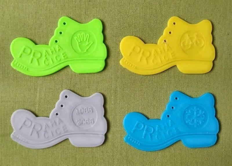 4.jpg Télécharger fichier STL gratuit Botička / Chaussure (récompense du voyage de randonnée tchèque Praha - Prčice) • Design imprimable en 3D, tomast