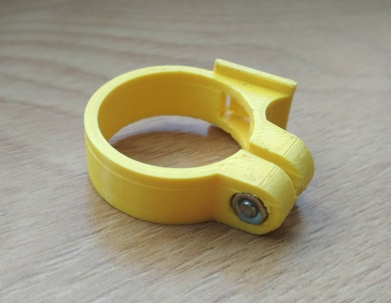 2.jpg Download free STL file Cateye bike computer holder • 3D printing design, tomast